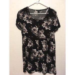F21 black babydoll dress
